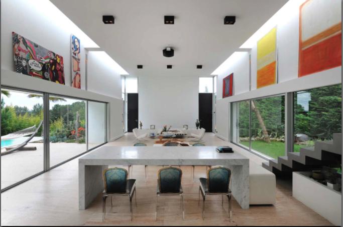 salon de maison contemporaine pr