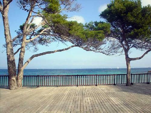 terrasse vue mer pour production photo var