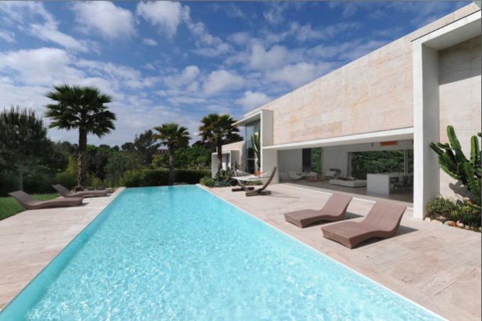 maison moderne avec piscine pour production photo cannes